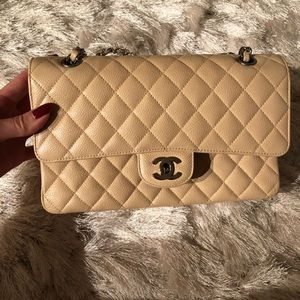 Chanel Medium Double Flap Caviar Bag